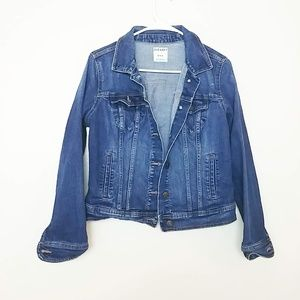 Old Navy Vintage Cropped Jean Jacket Medium #3936